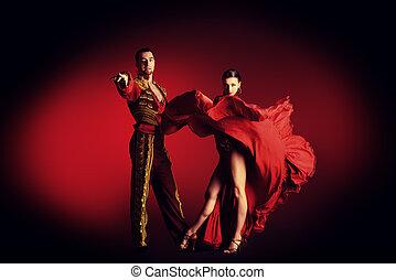 performers - Professional dancers perform latino dance....