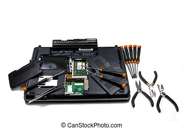 Performing A Computer Service - A view of the underside of...