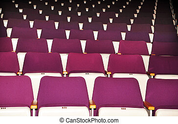 Performing Arts - Theater Interior - Rows of theatre seats.