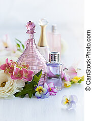 perfume and aromatic oils bottles