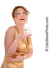 Perfume and beauty woman