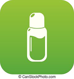 Perfume bottle icon green vector