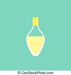 Perfume bottle in flat style vector illustration