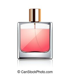 Perfume bottle isolated on white vector