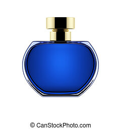 Perfume Bottle - perfume bottle isolated over a white...