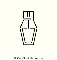 Perfume Bottle Thin Line Icon Illustration Design