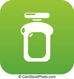 Perfume bottle water icon green vector