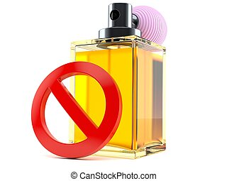 Perfume bottle with forbidden symbol