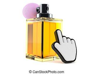 Perfume bottle with web cursor