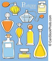 perfume bottles - set of perfume bottles in vector format...
