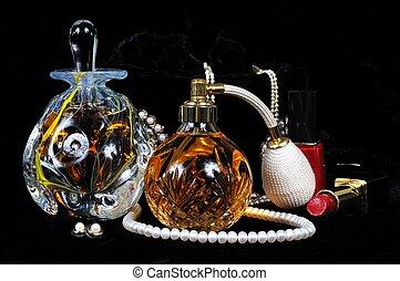 Perfume bottles.