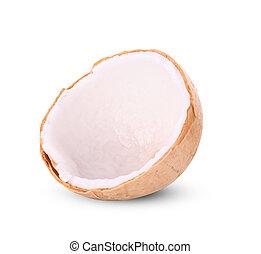 Perfume Coconut isolated on white background