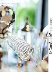 Perfume distillery glass tube