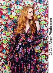 perfume - Fashion shot of a beautiful sensual woman with ...