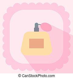 perfume flat icon on pink background