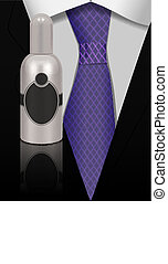 perfume for man - vector concept illustration, perfume for...
