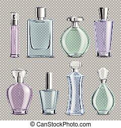 Perfume Glass Bottles Set