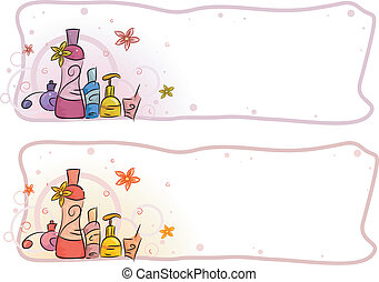 Perfume Header - Header Illustration Featuring Perfumes