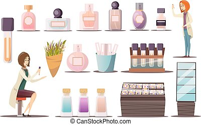 Perfume Shop Icon Set