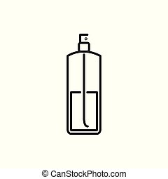 Perfume Spray Bottle Thin Line Icon Illustration Design