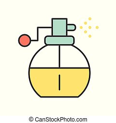 Perfume spray, filled outline icon