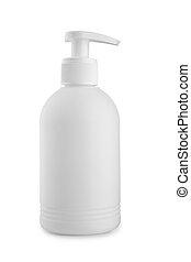 perfume white bottle isolated