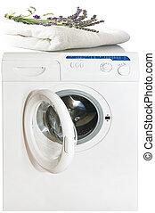 perfumed laundry on the washing machine