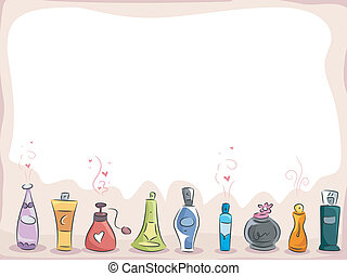 Perfumes Background - Background Illustration of Different...