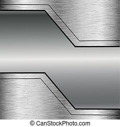 perfurado, abstratos, vetorial, metal, fundo