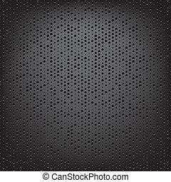 perfurado, carbono, fibra, tecer
