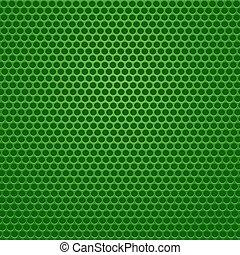 perfurado, experiência., verde
