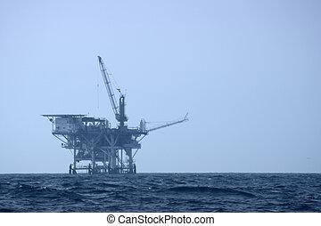 perfurar offshore, plataforma