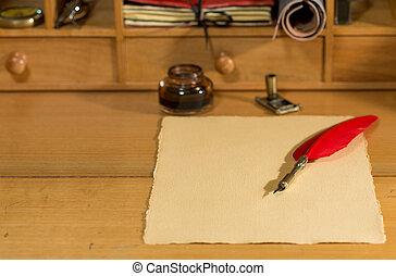 pergamen, čistý