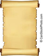 pergament, blank