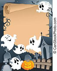pergament, halloween, 4, scen