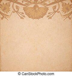 pergaminho, fundo, egípcio