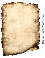 pergaminho, papel, fundo