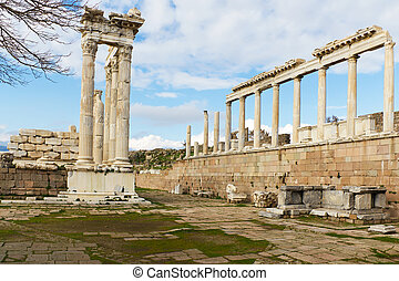Pergamon Greek Ruins in Turkey