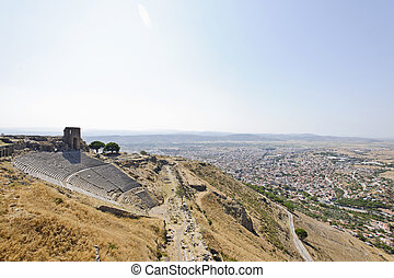 Built on a conical hill rising 1,000 feet above the surrounding valley, Pergamum (or Pergamon) was an important capital city in ancient times. Its Greek name means citadel. The modern city of Bergama, 150 miles north of Izmir, is the successor of ancient Pergamum. Most of the extraordinary buildings...