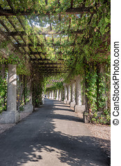 Pergola round the Centennial Hall in Wroclaw