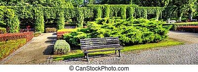 pergola, w ogrodzie