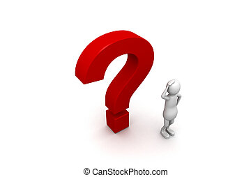 pergunta, 3d, personagem, marca