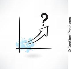 pergunta, crescimento, grunge, mapa, ícone