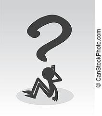 pergunta, figura