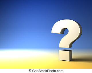 pergunta, fundo, marca