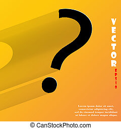 pergunta, mark., apartamento, modernos, teia, botão, com, longo, sombra, e, espaço, para, seu, texto