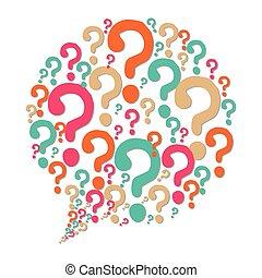 pergunta, soluções, ícones