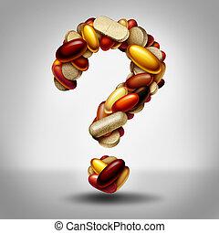 pergunta, suplemento, dietético