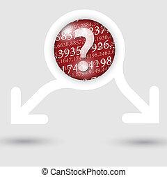 pergunta, texto, abstratos, setas, dois, textura, marca, números, quadro