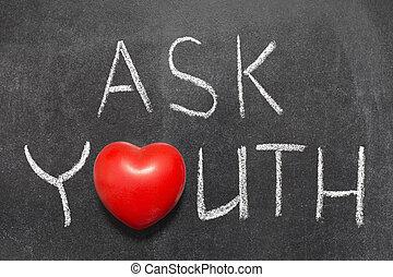 perguntar, juventude